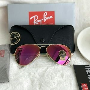 HOT PINK RAY-BAN AVIATOR 100% AUTHENTIC
